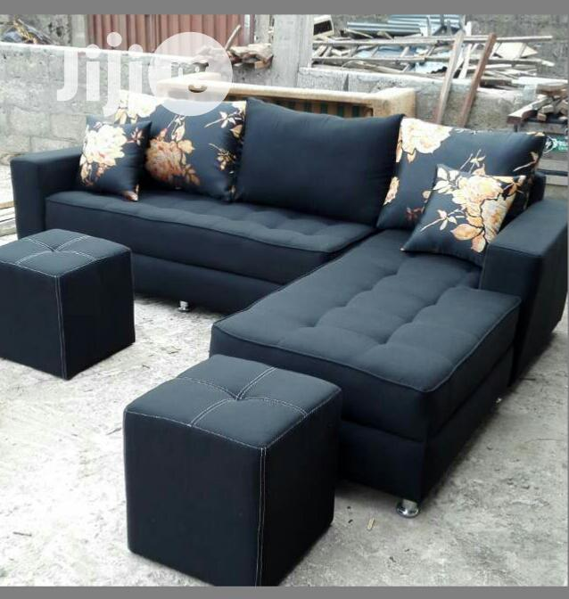 L Shaped Sofa With Two Stool