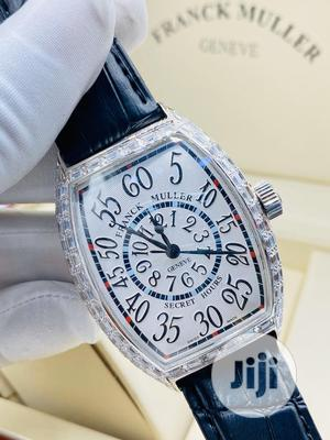 Franck Muller Full Ice Silver Leather Strap Watch   Watches for sale in Lagos State, Lagos Island (Eko)