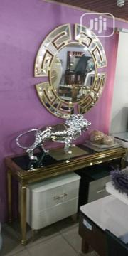 Quality Set Of Royal Console Table And Versace Mirror | Home Accessories for sale in Lagos State, Ojota