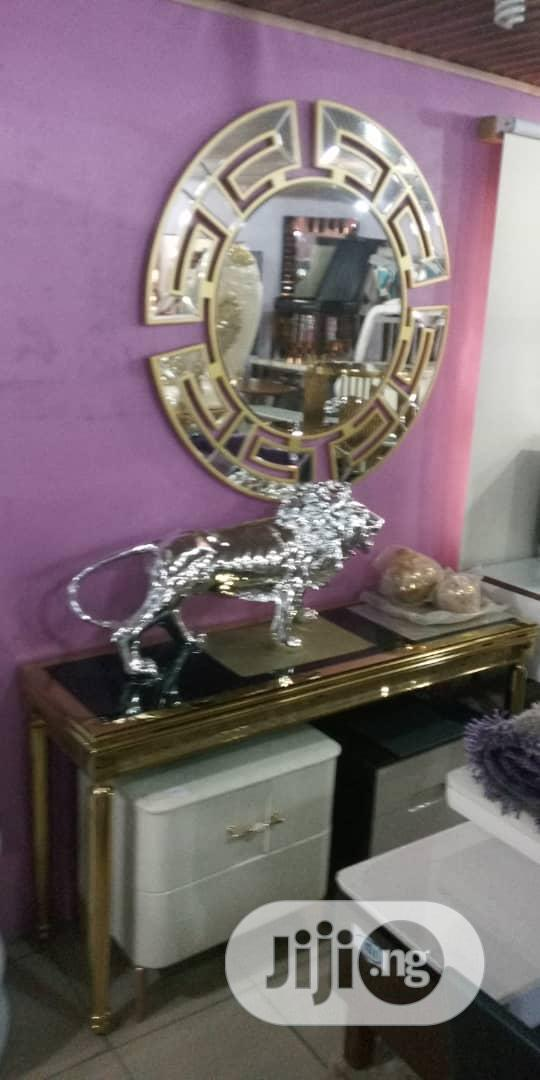 Quality Set Of Royal Console Table And Versace Mirror