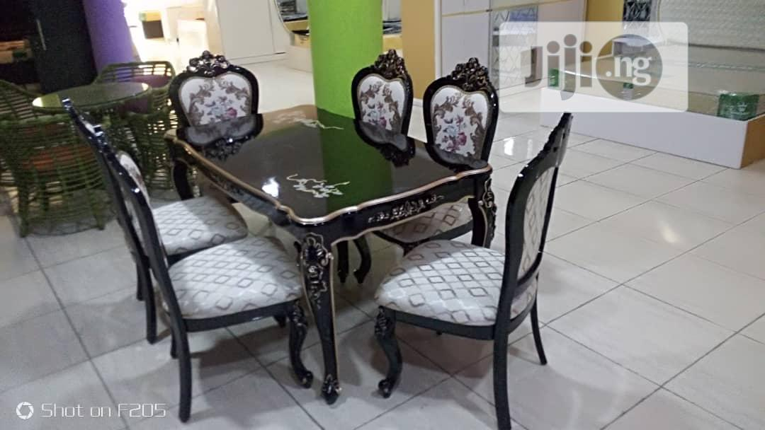 Archive: Quality Set of Royal Wooden Dinning Table With Six Chairs