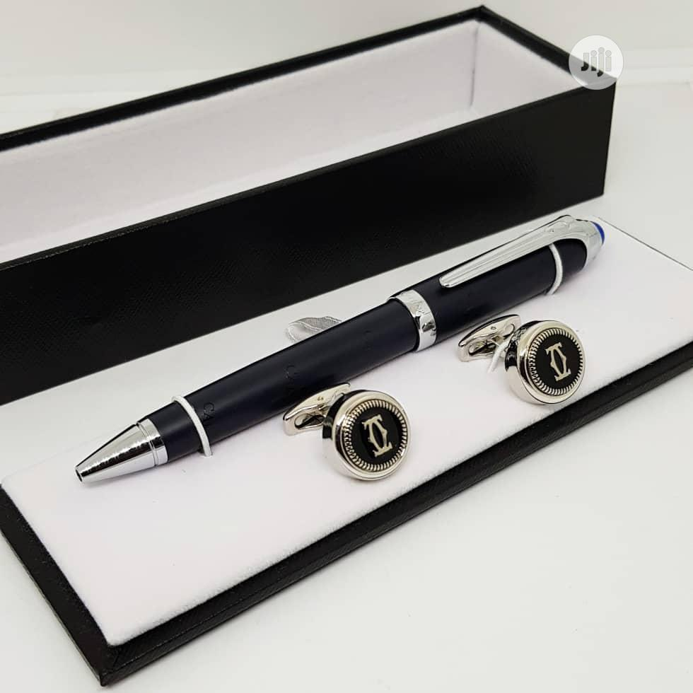 Cartier Pen And Cufflinks For Men's
