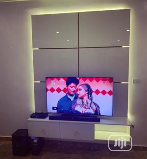 Wall TV Stand Panel,, With LED Lights   Furniture for sale in Lagos State, Lekki