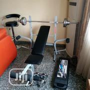 Weight Lifting Bench Press With 50kg Dumbbells | Sports Equipment for sale in Ogun State, Ayetoro