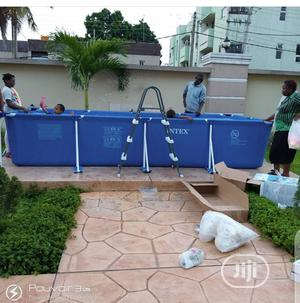 Intex 171/2ft Rectangular Shape Swimming Pool With Ladder | Sports Equipment for sale in Lagos State, Surulere