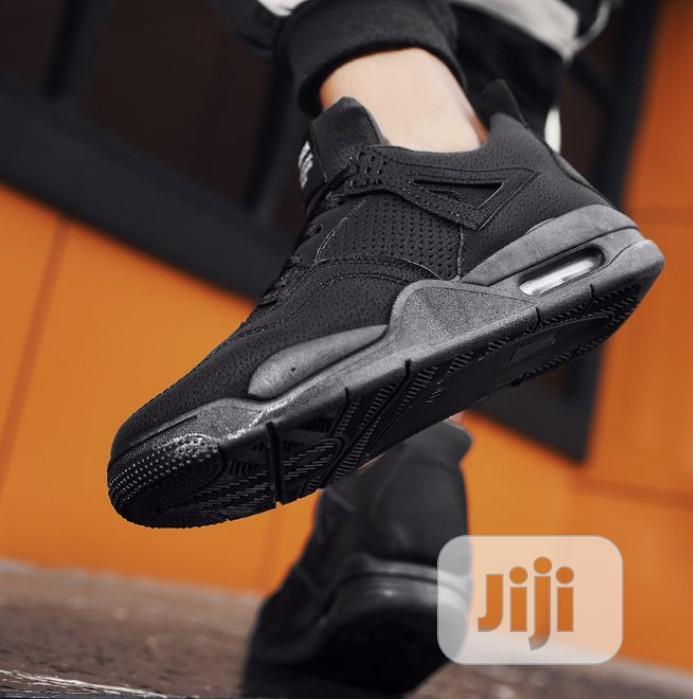 Fashion Men Casual Shoes Sneakers-Black | Shoes for sale in Victoria Island, Lagos State, Nigeria