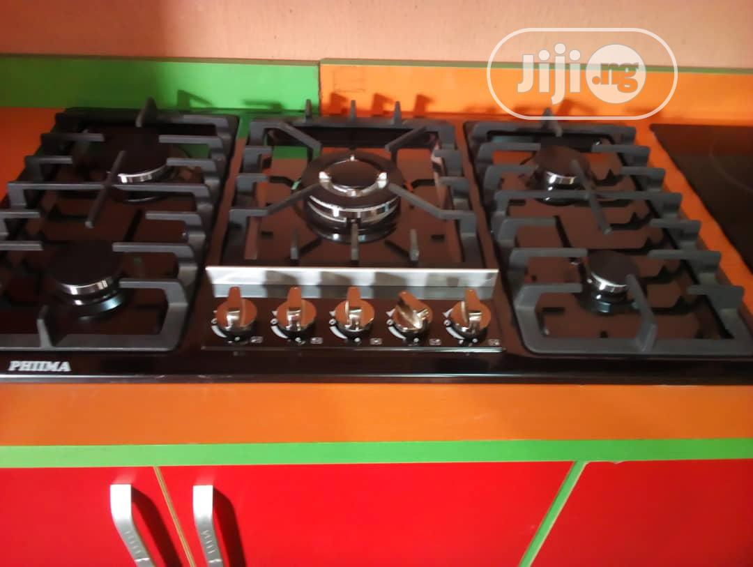 ( New ) Phima Gas Cabinet (5 Burners ) Automatic Gas Cooker + 5 Years