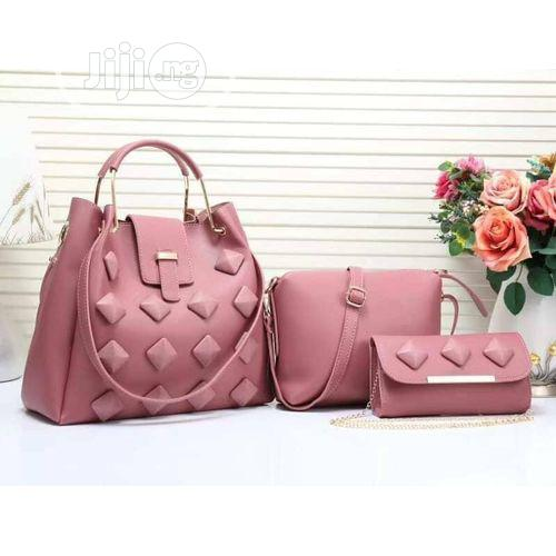 Trendy Pink 3in1 Hand Bag