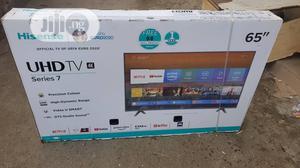 65lnch Hisense Smart UHD HDR 2020 Falt TV New One   TV & DVD Equipment for sale in Lagos State, Ojo