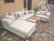 Quality Leather L _ Shape With A Single   Furniture for sale in Lagos State, Ikeja