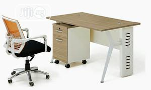 Home Office Table With Metal Legs. Size 4ft | Furniture for sale in Lagos State, Yaba