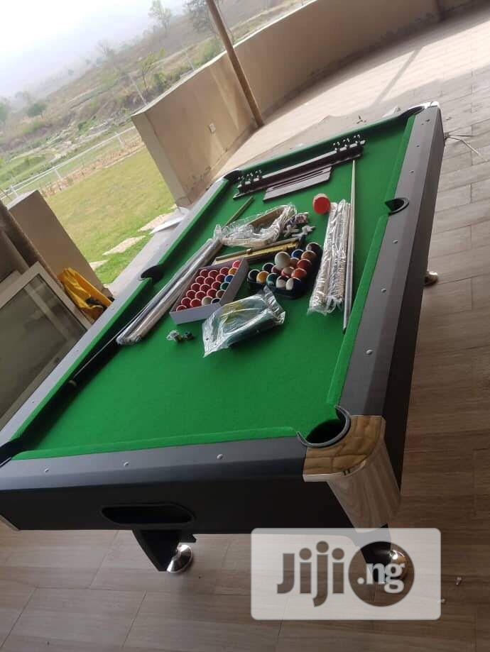 Double Accessories Snooker Table