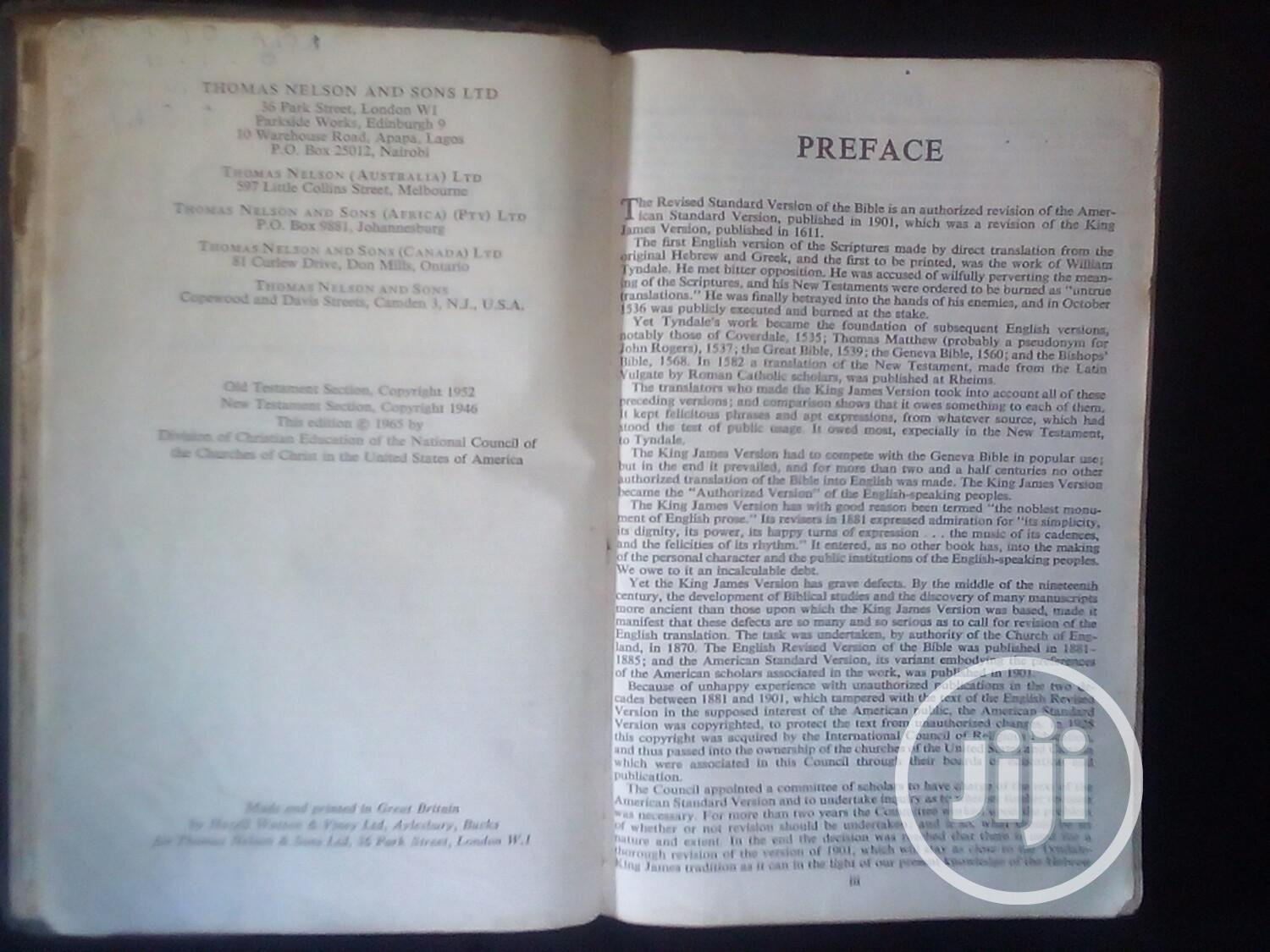 Bible: 55 Year Old Ancient Bible | Books & Games for sale in Lekki, Lagos State, Nigeria