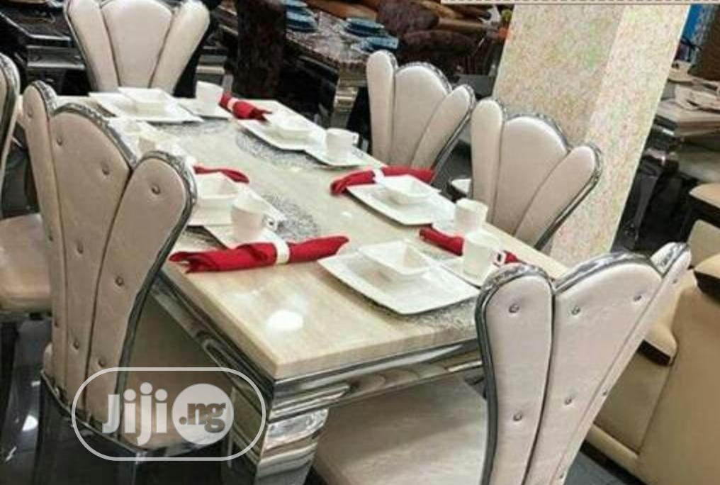 New Exotic 6 Seater Marble Dinning Table And Chairs
