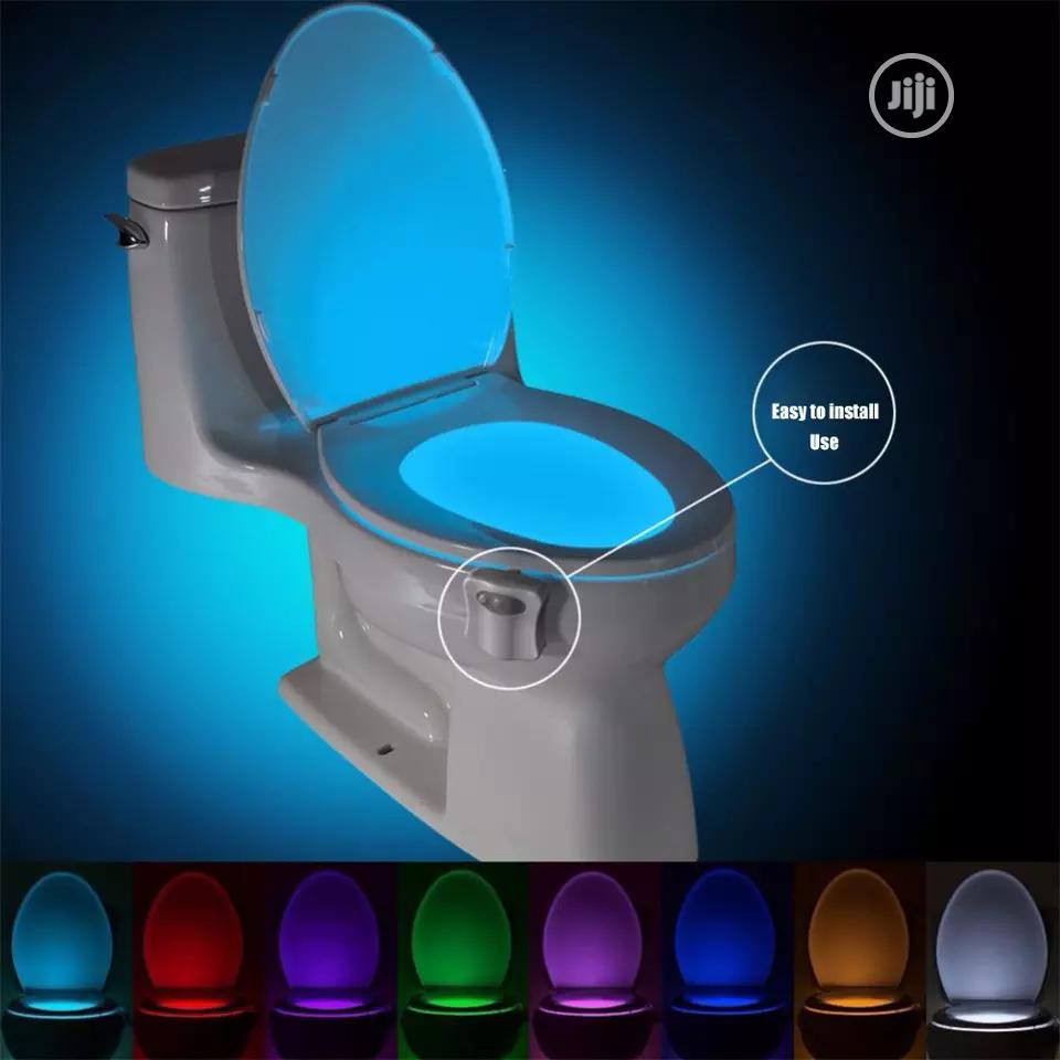 Smart PIR Motion Sensor Toilet Seat Night Light With 8 Colors
