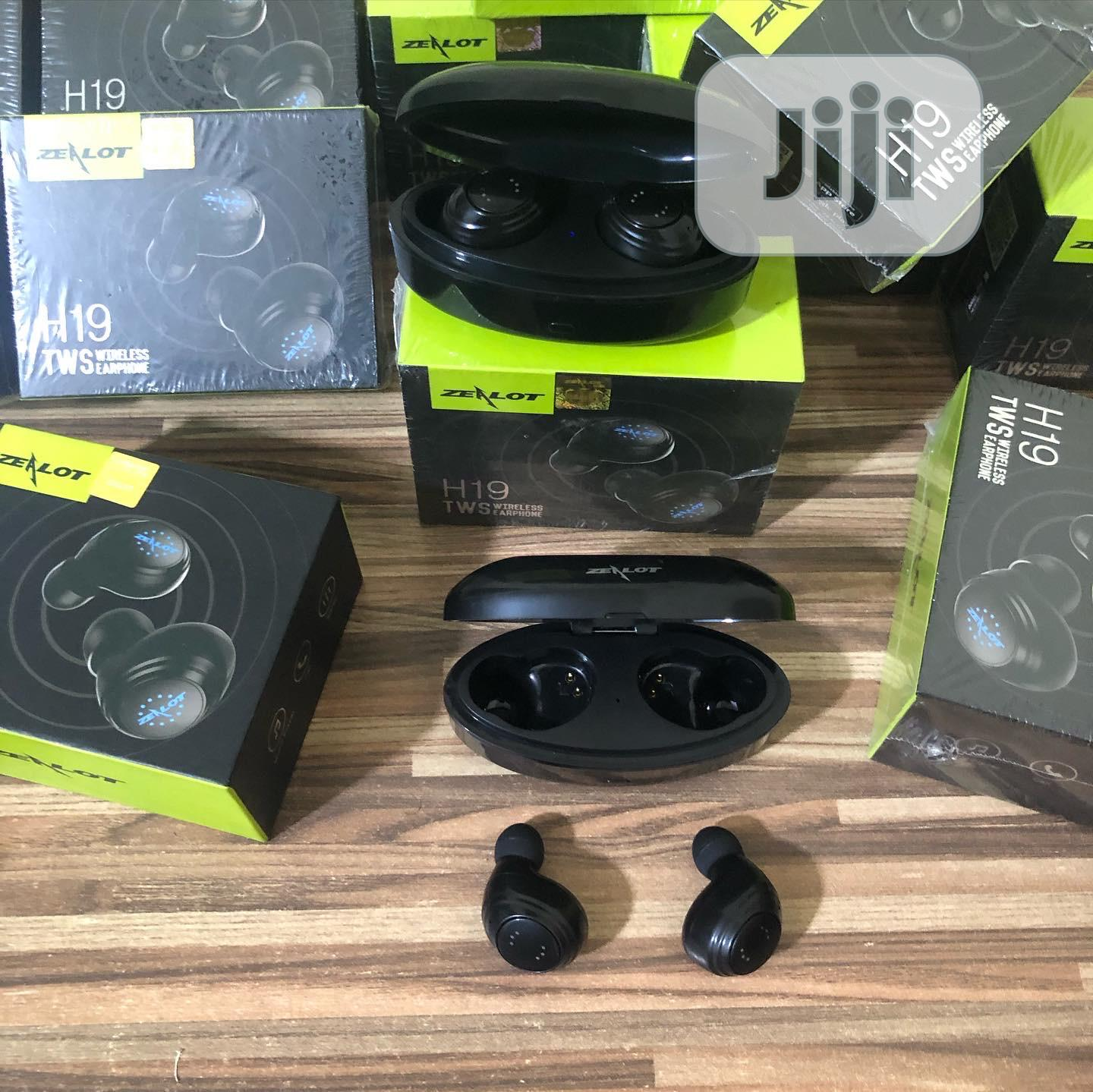 Waterproof TWS Bluetooth Earbuds (Zealot H19) | Headphones for sale in Ikeja, Lagos State, Nigeria