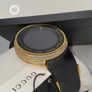 Gucci Gold Ice Head Digital Rubber Strap Watch | Watches for sale in Lagos State, Lagos Island (Eko)