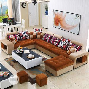 U-Shaped Sofa Chairs With Centre Table - Fabric Couches   Furniture for sale in Lagos State, Ojo