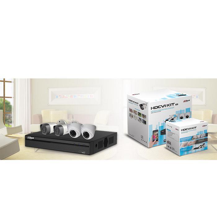 Dahua XVR5104HS-2MP- 4CH 2MP Dome & Bullet HDCVI Kit CCTV