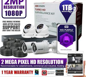 Hikvision 4channels And 4cameras 2MP CCTV Package DIY Kit With 1TB HDD | Security & Surveillance for sale in Lagos State, Ikeja