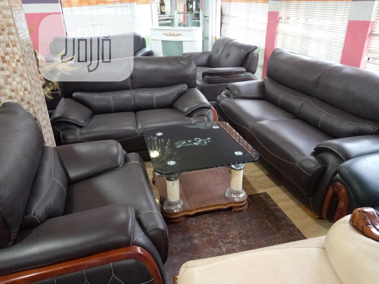 7 Seater Leather Sofa