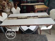 White Marble Dinning Set With 6 Chairs   Furniture for sale in Lagos State, Maryland