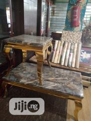 Gold Leg Centre Table N 2stools | Furniture for sale in Lagos State, Victoria Island