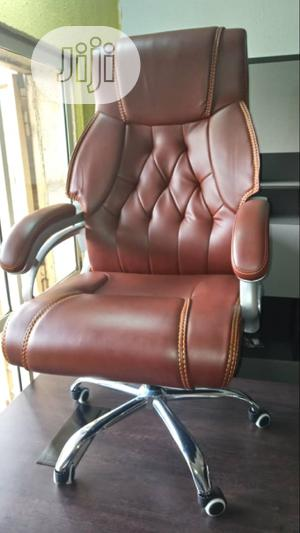 Executive Brown Leather Office Chair | Furniture for sale in Lagos State, Amuwo-Odofin