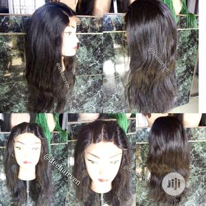 Double Drawn Human Hair Lace Wig - 16 Inches   Hair Beauty for sale in Rivers State, Port-Harcourt