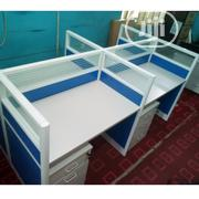 Blue Quality Office Workstation Table | Furniture for sale in Lagos State, Ibeju