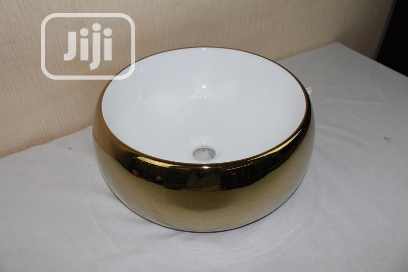Gold Wash Basins, For Salons And Homes
