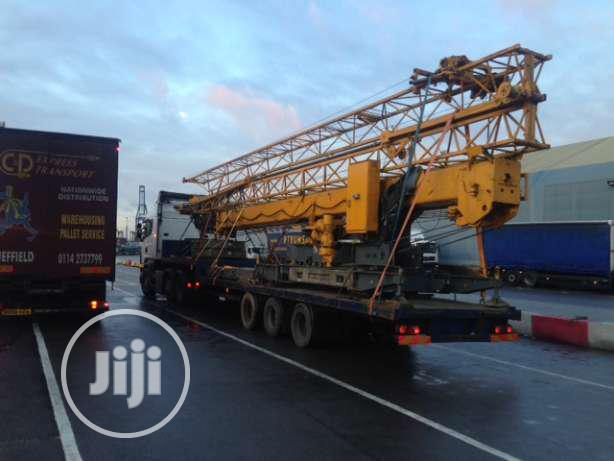 Foreign Used Tower Crane With Pdf With Telescopic Boom For Sale