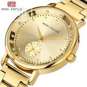 Female Gold Mini Focus Luxury Quartz Wristwatch | Watches for sale in Lagos State, Victoria Island