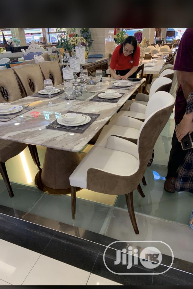Archive: Classic Unique Quality Pure Leather Marble Dining Table