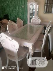 Sweet Polished White Mable Finished Dinning Set   Furniture for sale in Lagos State, Ajah