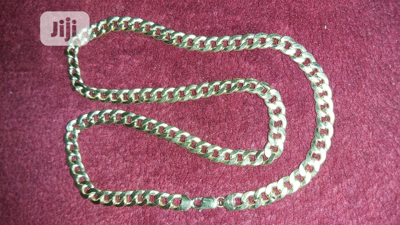 18karat Solid Gold Necklace Cuban Design