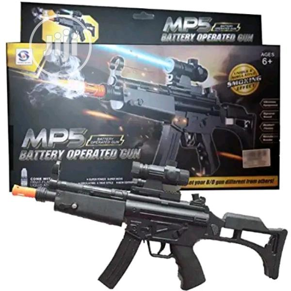 MP5 Army Gun Toy - With Real Smoke Effect, Vibration, Light & Sound -