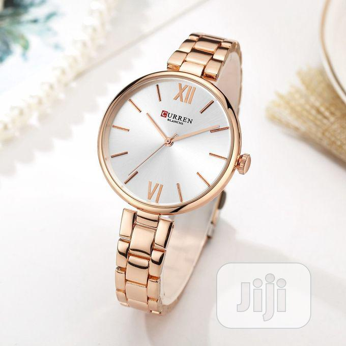 Gold Curren Real Quality Unique Women's Watch