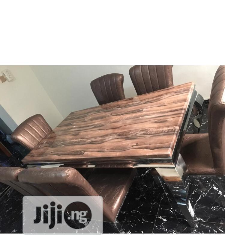 Marble Dining Table 6 Seaters