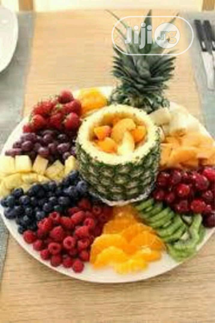 Various Designs Of Fruit Decorations At Events And Weddings