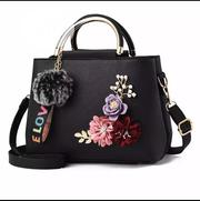 Fashion Flower Faux Pearl Plush Ball Handbag Ladies Shoulder Bag Tote   Bags for sale in Lagos State, Ojo