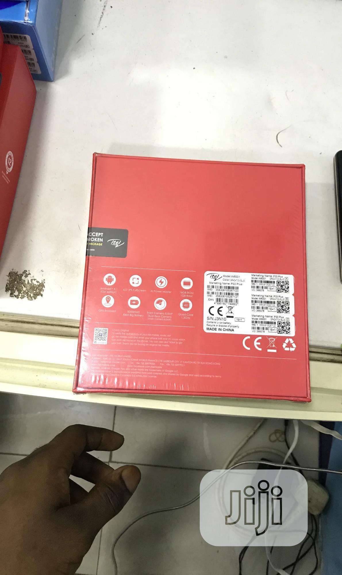 New Itel P33 Plus 16 GB Blue | Mobile Phones for sale in Ojodu, Lagos State, Nigeria