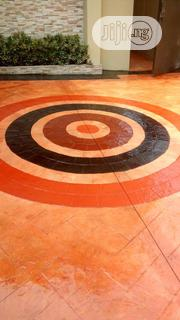 Stamping Concrete Floor Design | Cleaning Services for sale in Lagos State, Gbagada