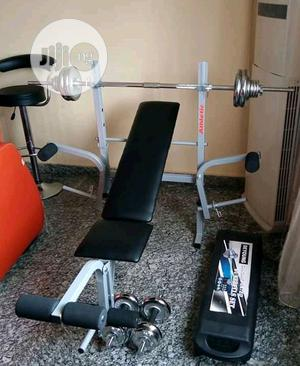 Weight Lifting Bench With 50kg Barbell   Sports Equipment for sale in Lagos State, Lekki