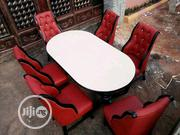 Dining Table And Six Chairs With Fabric And A Good Leader   Furniture for sale in Enugu State, Enugu