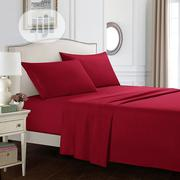 Quality Wine Colour Duvet,Bedsheet With 4 Pillow Cases   Home Accessories for sale in Lagos State, Ikeja