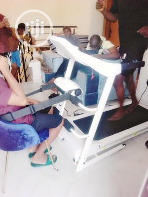 2.5hp White American Fitness Treadmill With Massager | Sports Equipment for sale in Lagos State, Surulere
