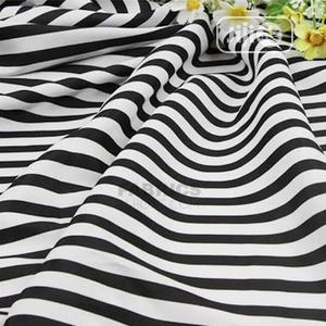 2cm Black and White Stripes Fabric (Sold in 4 Yards)   Clothing for sale in Lagos State, Yaba