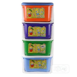 Angel 4-layer Plastic Storage Baby Wardrobe - Multicolour | Children's Furniture for sale in Lagos State, Agege