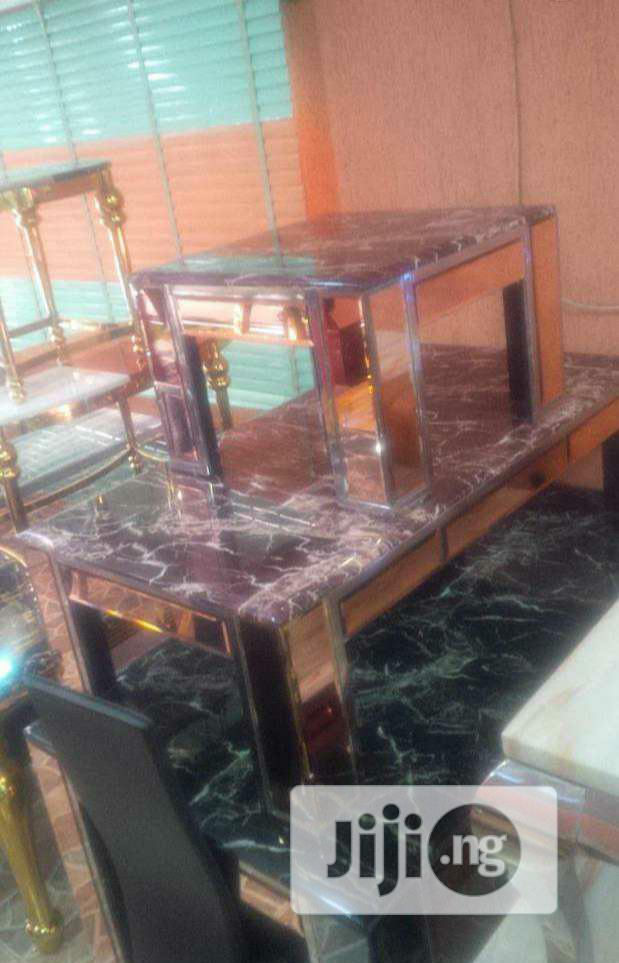 Marble Center Table With Side Stools